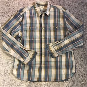 Lucky Brand California Fit XL Blue Plaid Button Up
